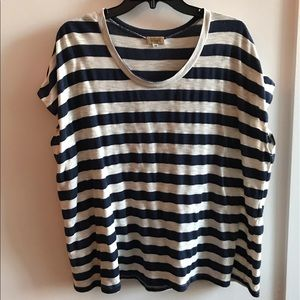 Boutique oversized stripe tee